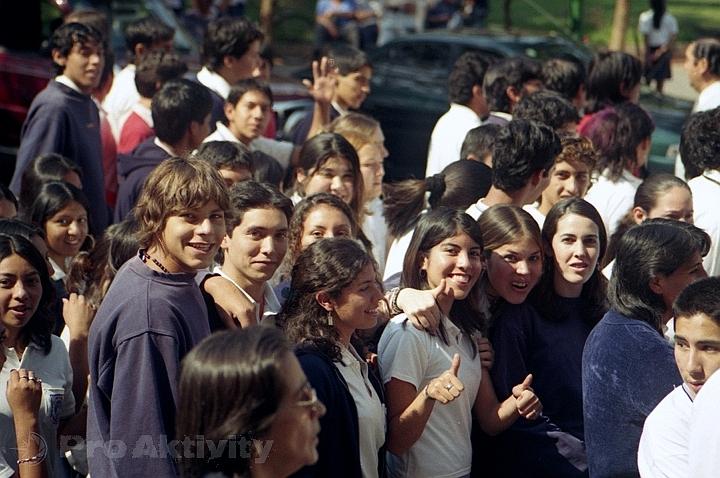 Argentina - Salta - studentský průvod