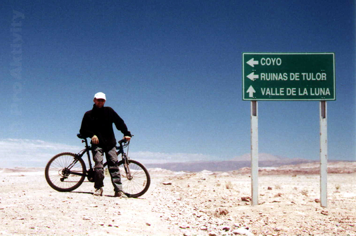Chile - San Pedro de Atacama - po ránu je v poušti zima