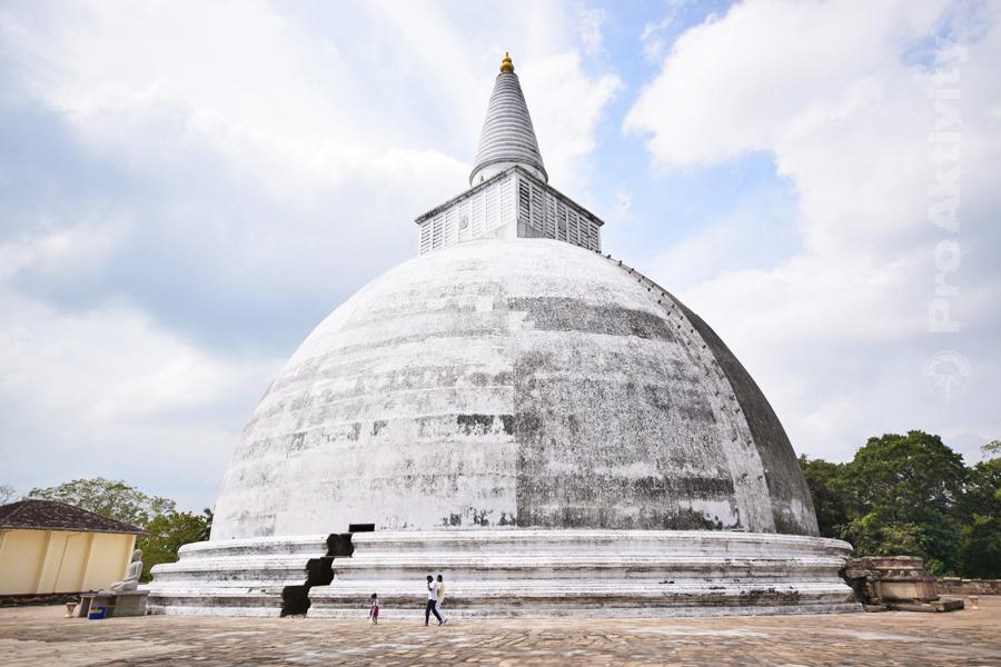 Šrí Lanka - Anuradapura - dagoba Mirisavetija