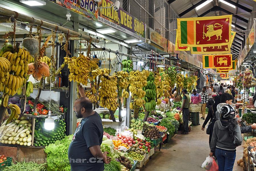 Nuwaraeliya - Zastřešená tržnice