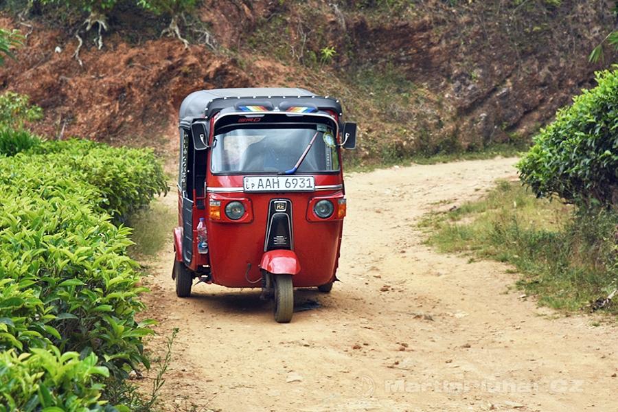 Nanuoya - Tuktuk mezi čajovníkovými plantážemi