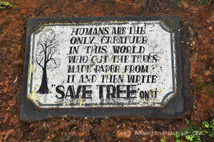 Nanuoya - Lidé jsou jediní tvorové na světě kteří kácí stromy, dělají z nich papír, a pak na něj píší CHRAŇTE STROMY