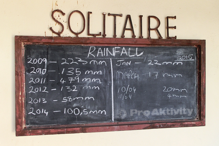 Namibie - Solitaire - srážky