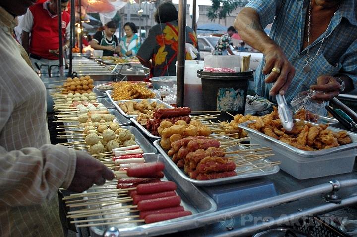 Thajsko - Prachuap Khiri Khan - večerní tržnice