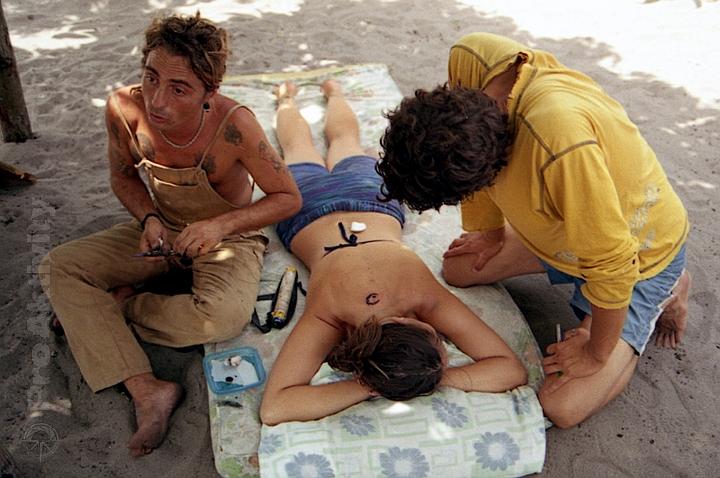 Brazílie - Caraíva - tatér amatér