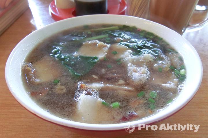 Malajsie - Sabah - Ranau, snídaně - čínská polévka