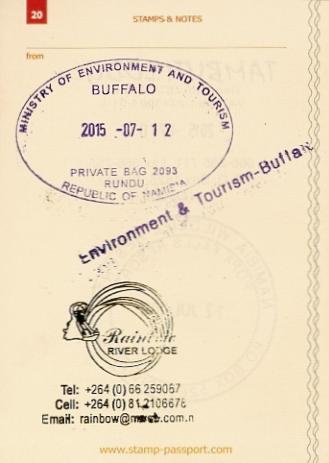 Stamp Passport - NP Bwabwata a Rainbow RL