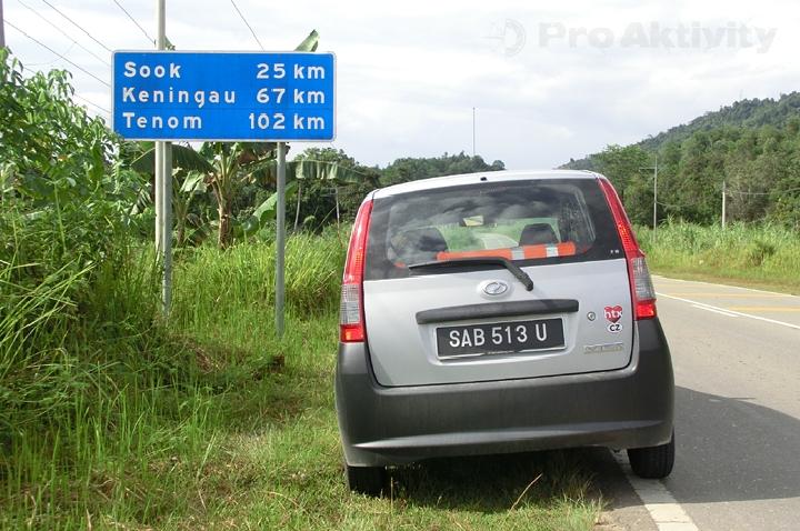 Malajsie - Sabah - cesta zpět do Keningau