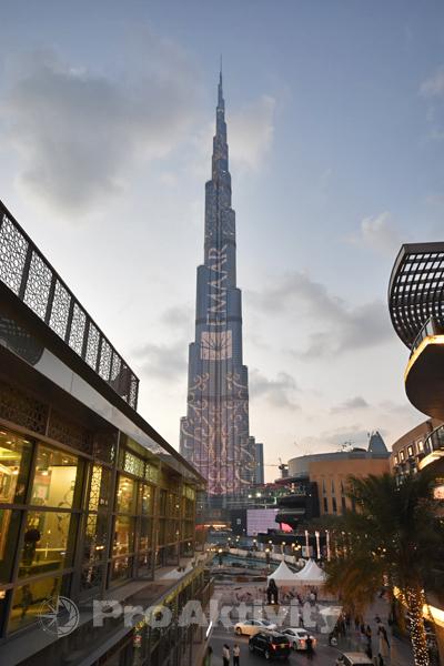 SAE - Dubaj - Chalífova věž, nejvyšší stavba světa - 828 metrů