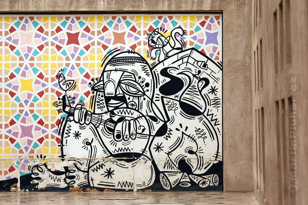 moderní umění v historické Al Fahidi, čtvrť Bur Dubai