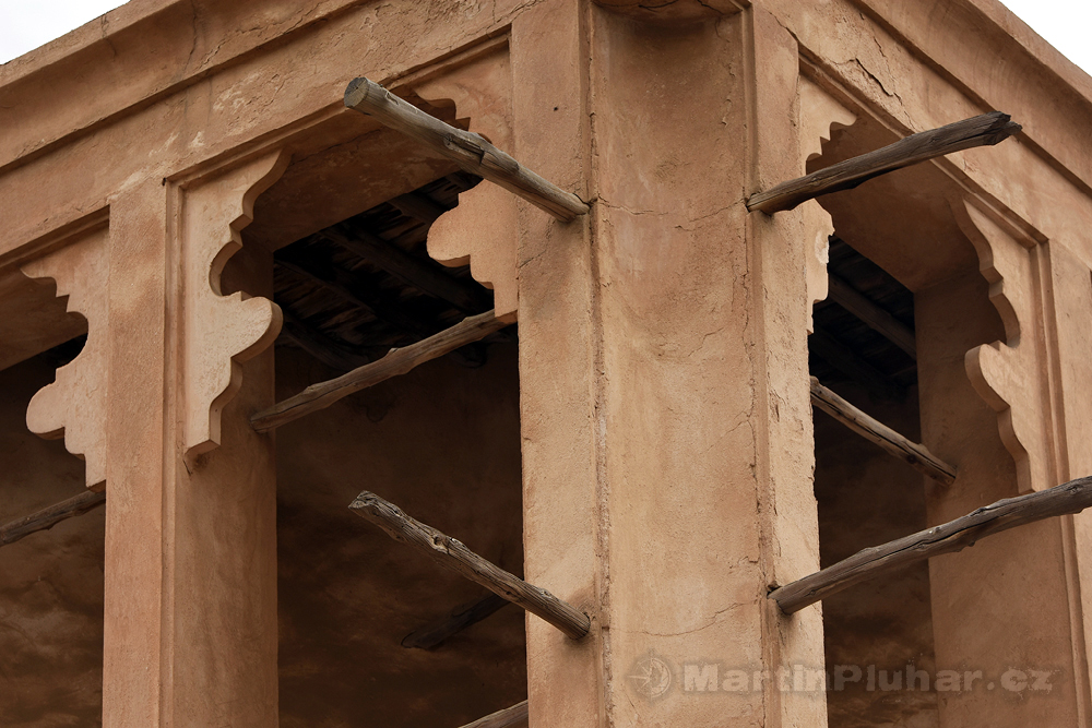 tradiční stavby v Al Fahidi, čtvrť Bur Dubai