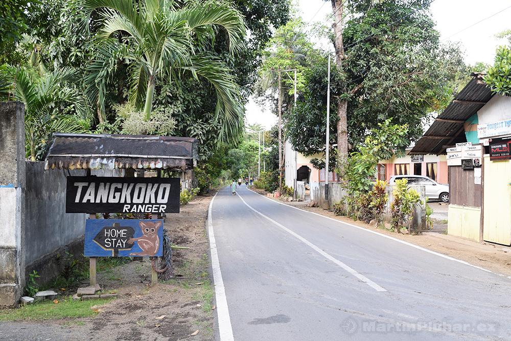 Vesnička Batu Putih, jediné místo pro vstup do Přírodní rezervace Tangkoko Batuangus