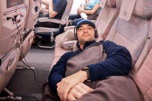 let Praha-Dubaj - lůžková úprava v ekonomické třídě