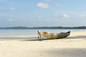 Moluky, Keiské ostrovy - Malý Keiský ostrov - pláž Pasir Panjang po ránu