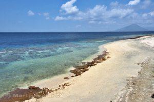 Moluky, Bandské ostrovy - ostrov Ay - pohled z terasy Green Coconut GH