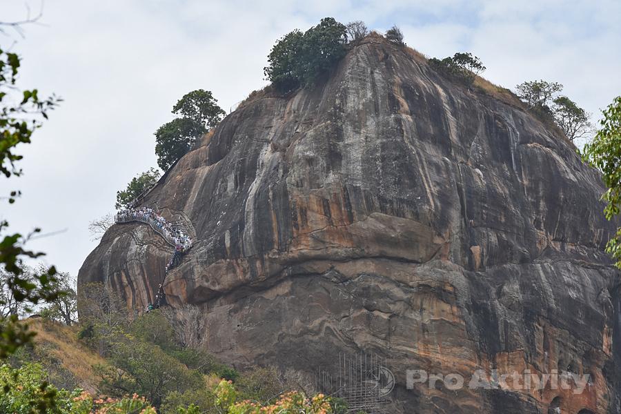 Šrí Lanka - Sigirija - pohled na Lví skálu