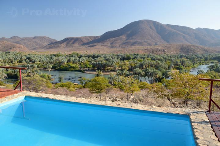 Namibie - Kunene, Epupa - řeka Kunene