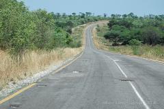 Botswana - silnice A33 Nata-Kasane