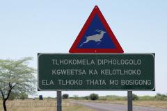 Botswana - silnice A3 Ghanzi-Maun
