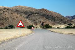 Namibie - silnice C39 Khorixas-Torra Bay