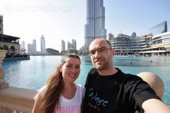 Burj Khalifa, Dubai Mall a my na mostu k tržnici Al Bahar